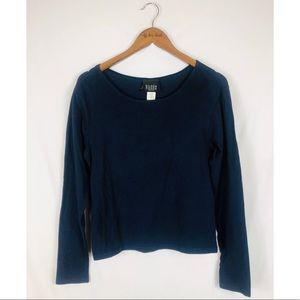 Wide Neck Navy Sweater